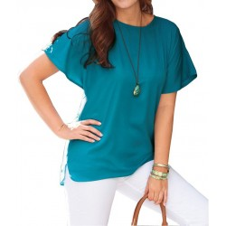 Blouse ample turquoise...