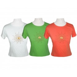 lot de 2 t-shirts brodés de...